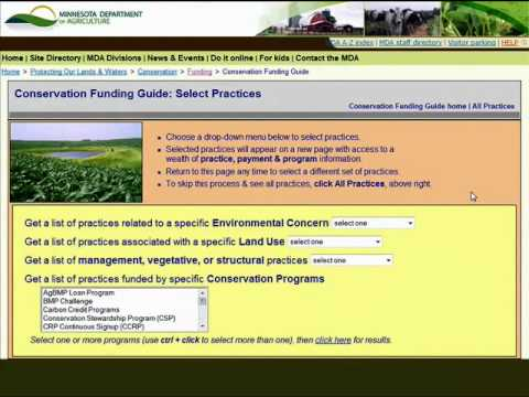 MN Conservation Funding Guide -- Selecting Conservation Practices (2)