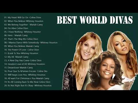 Mariah Carey, Celine Dion, Whitney Houston Greatest Hits Playlist - Best Love Songs Of All Time
