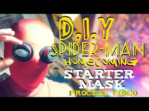 How To Make A Spider-man Homecoming Starter Mask with Lenses | Process Video
