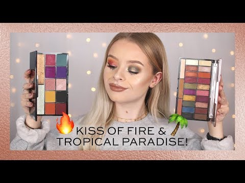 REVOLUTION | KISS OF FIRE & TROPICAL PARADISE - TWO EYE LOOKS!