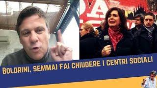 Boldrini, semmai fai chiudere i centri sociali (19 feb 2018)