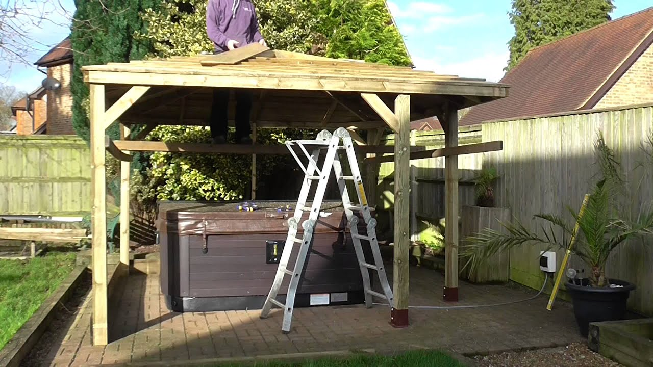 Wooden Gazebo Build 3 5m Corner Entrance Youtube