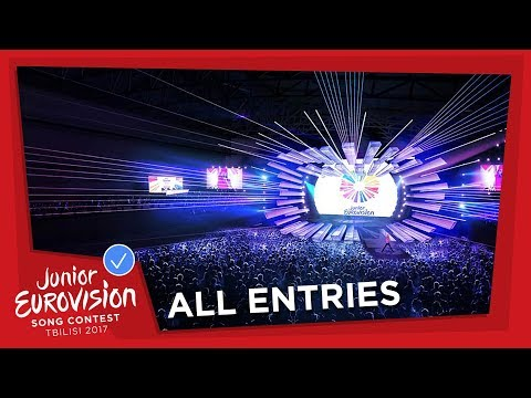 ALL 16 ENTRIES OF THE 2017 JUNIOR EUROVISION SONG CONTEST 🎶 🎉