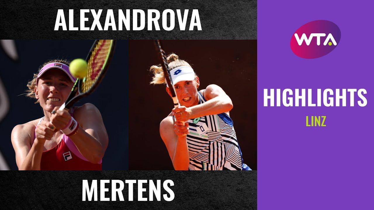 Elise Mertens vs. Ekaterina Alexandrova | 2020 Linz Semifinal | WTA Highlights