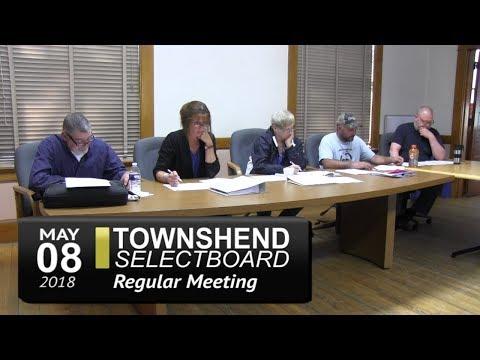 Townshend Selectboard Meeting 5/8/18