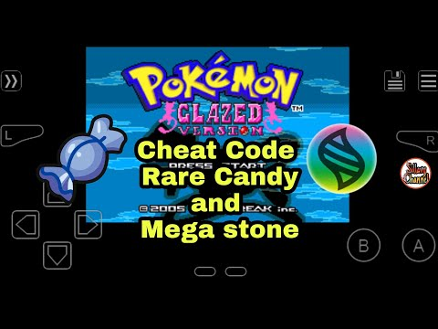 Pokemon Glazed Cheat Code Mega Stone And  RareCandy