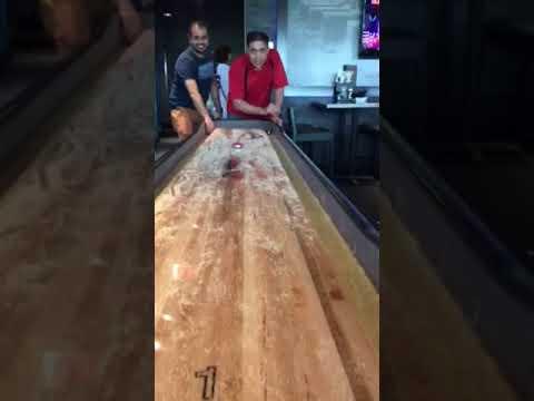 Shuffleboard YouTube - Playcraft georgetown shuffleboard table