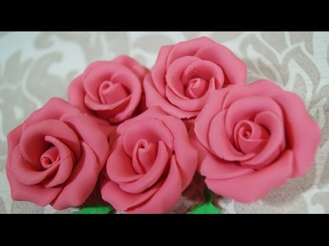 Sugar Rose Fondant Rose Cake Decorating Rose How To - YouTube