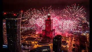 █▬█ █ ▀█▀ UHD 4K New Year 2017 fireworks in Poland from DRONES - Drones Polska
