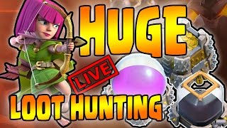 HUGE LOOT HUNTING - TH10 Live Farming Session - Clash of Clans - Live LaLoonion Attacks LavaLoonion