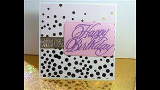 Lilac shade - Happy Birthday Card
