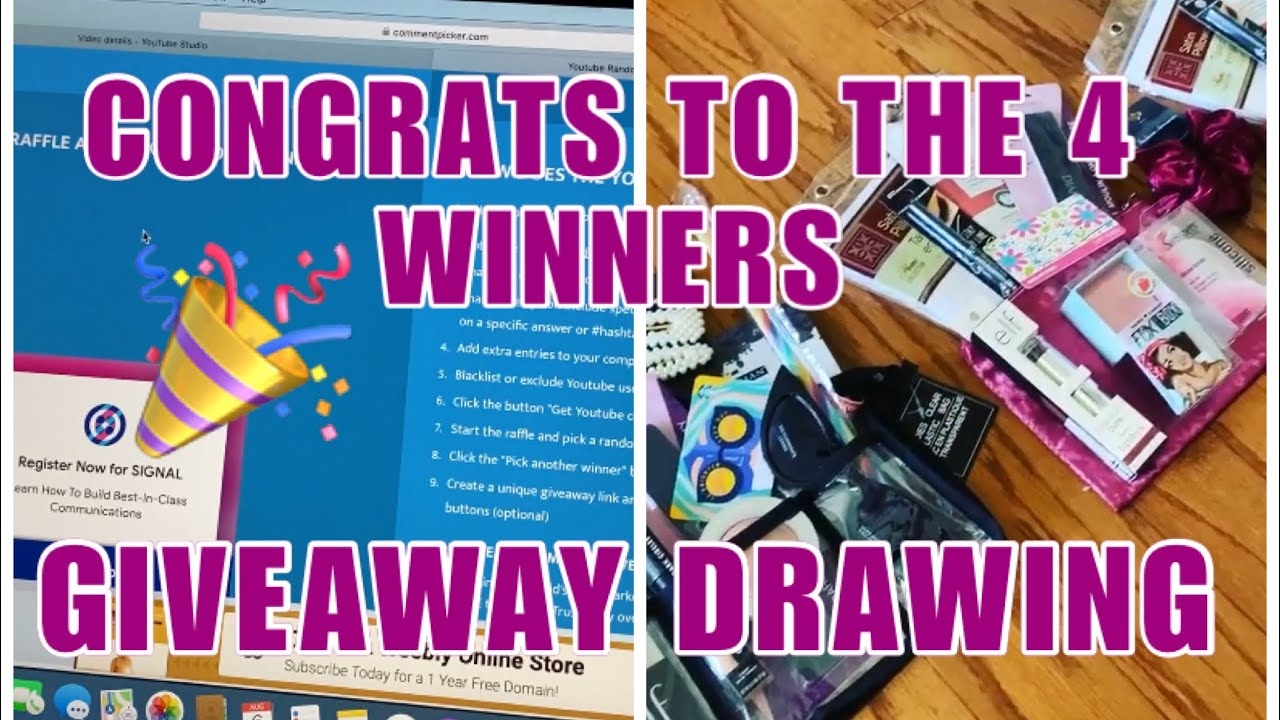 60K SUBSCRIBER GIVEAWAY DRAWING 4 WINNERS ANNOUNCED 🎉CONGRATS 🎉