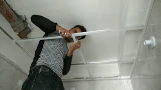 How to make drop Ceiling   सीलींग लगाने का सब से.आसान तरीका   एक बार देखने पर ही सीख जाऐंगे ।