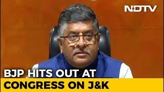 "BJP Offers ""One-Way Ticket To Pak"" To Congress Leader For Kashmir Remark"