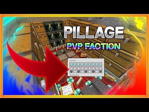 UN PILLAGE DE DINGUE ! Minecraft Pvp Faction Moddé Ps4 Fr