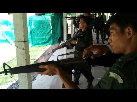 ยิง M16-A1 กระสุนไม่อั้น