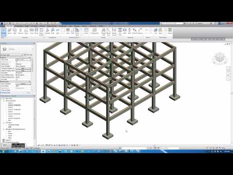 1.-starting-model-with-revit-strucuture--creating-grid,-columns,-beams,-analytical-levels
