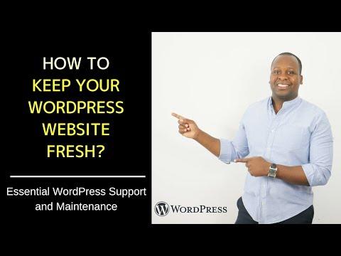 How to keep your WordPress Website fresh? - Essential WordPress Support & Maintenance
