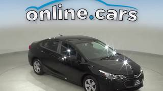 A12965BP Used 2016 Chevrolet Cruze LS FWD 4D Sedan Black Test Drive, Review, For Sale