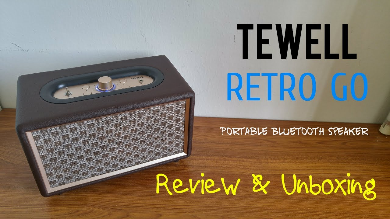 TEWELL Retro GO - Portable Bluetooth Speaker Review & Unboxing [HD]
