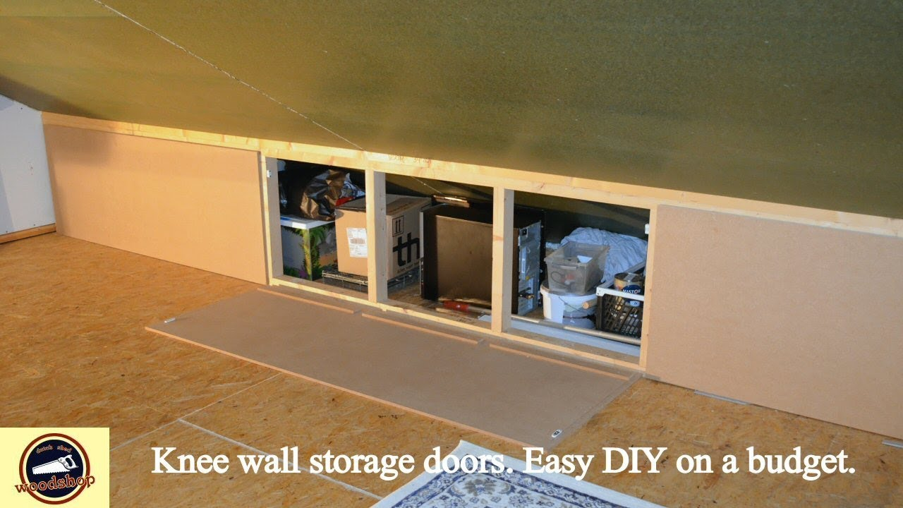 Knee Wall Storage Diy On A Budget Home Improvement 17