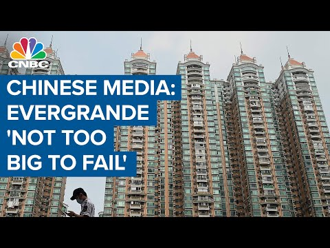 Evergrande 'not too big to fail': Chinese state media