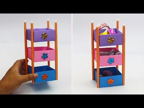 DIY Paper Desk Organizer | How To Make Origami Desk Organizer | Origami Rack | Paper Craft