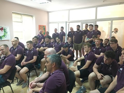 Irish Rugby TV: Ireland U-20s Visit 'First Step Georgia' In Tbilisi
