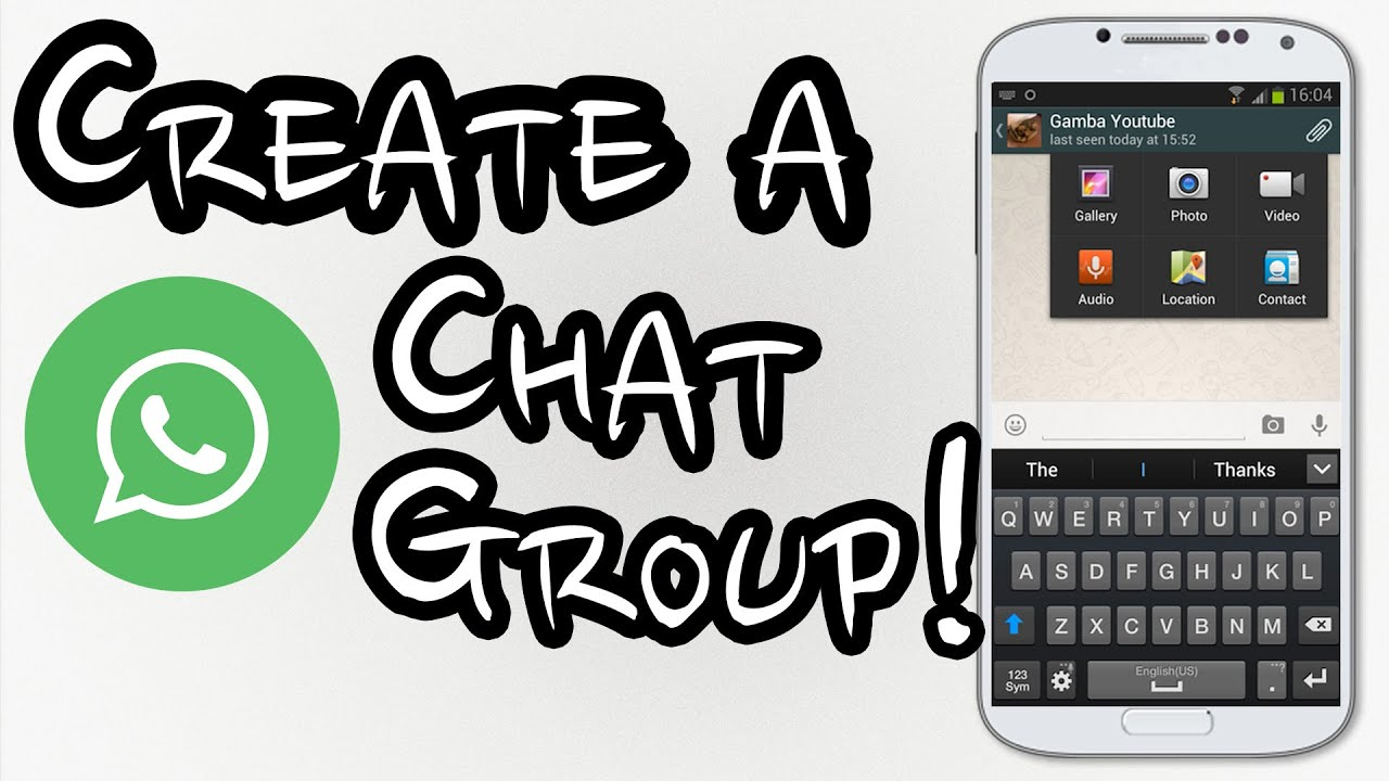 How to create a chat group on Whatsapp , Step by Step