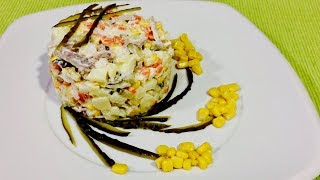 🌶 Салат из картофеля и кальмаров🌶 Вкусный салат на праздник 🌶 Рецепты вкусных салатов 🌶