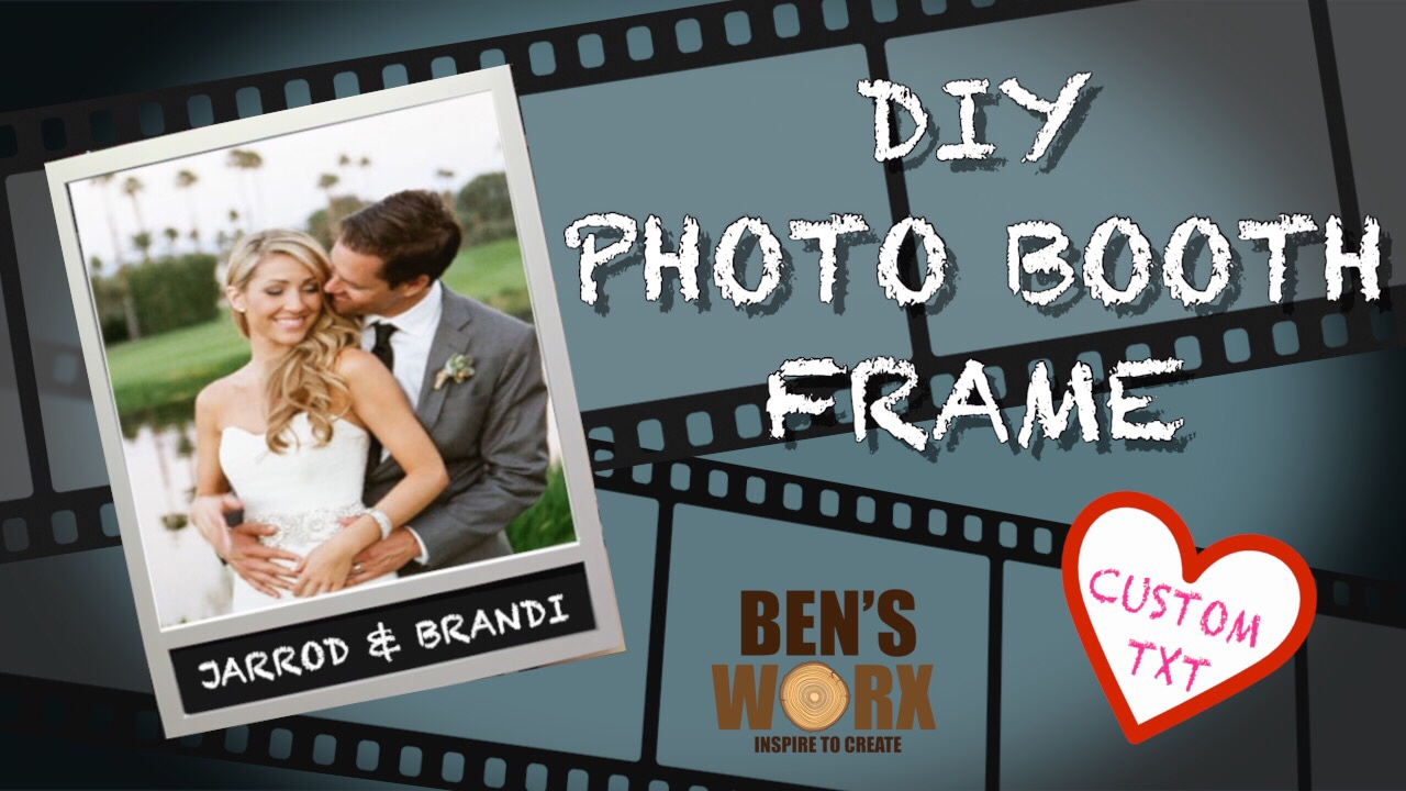 How to make a photo booth picture frame **INSTAGRAM FRAME** - YouTube