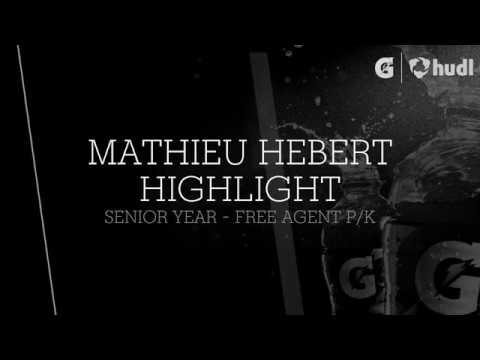Mathieu Hébert Senior year Highlight
