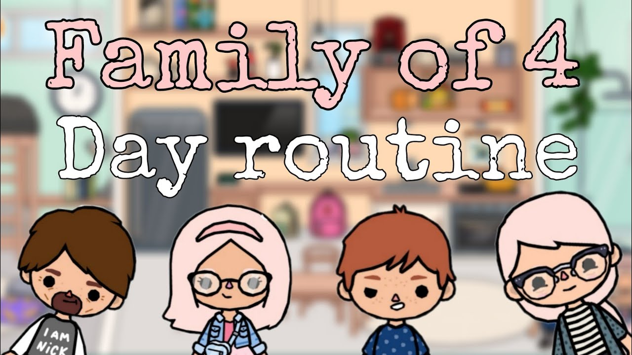 Family of 4 Day Routine | Toca Life World
