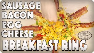 Sausage Bacon Egg n Cheese Breakfast Ring!
