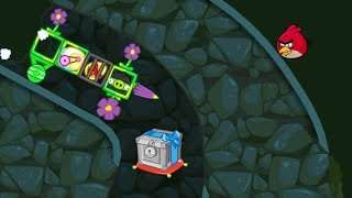 Bad Piggies - NINJA PIG CARRYING THE GOLDEN EGG TO TAKE CRATE!