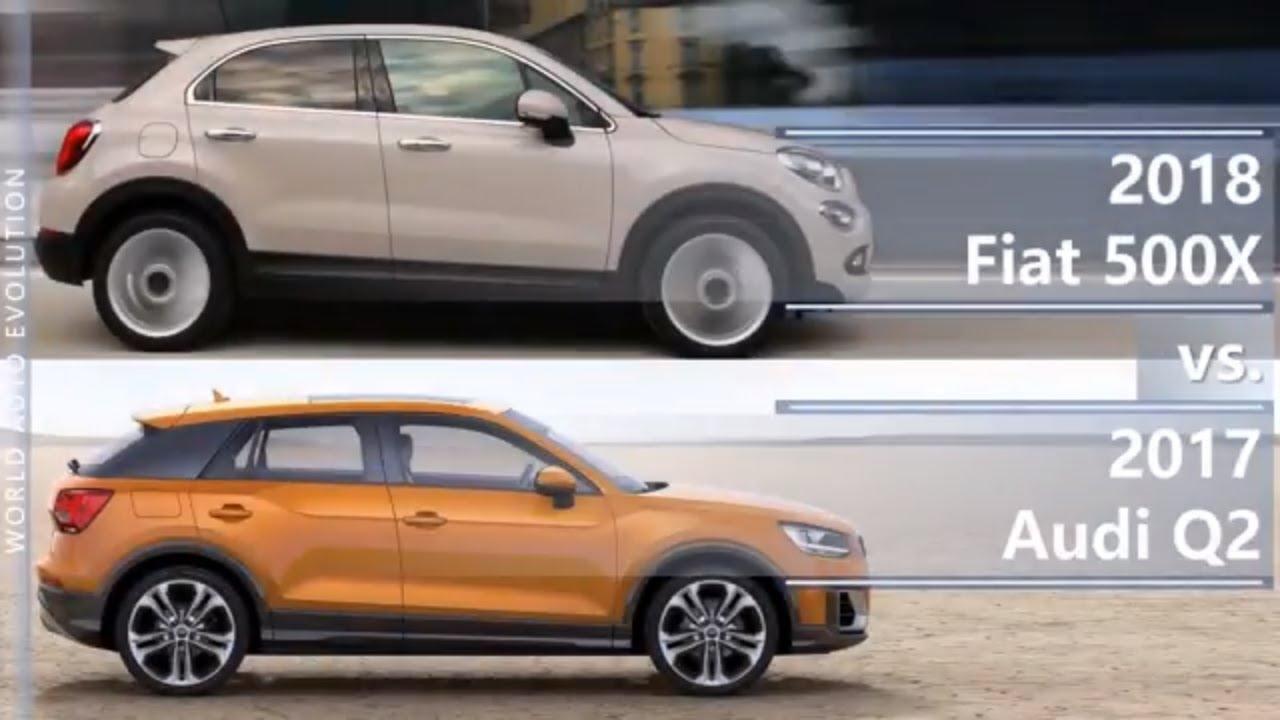 2018 Fiat 500x Vs 2017 Audi Q2 Technical Comparison Youtube