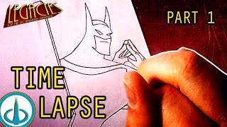 COMIC BOOK TIME LAPSE, Pt 1 - Pencils | Legacies of the DCAU