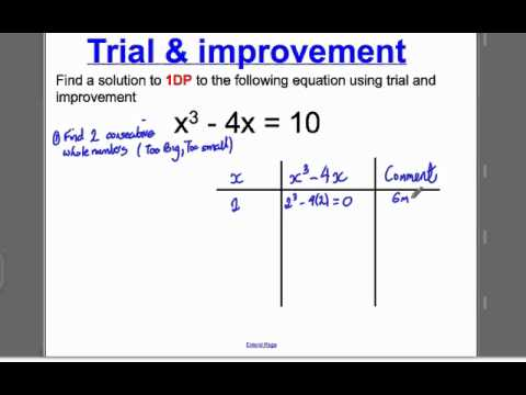Trial And Improvement 1 Gcse Higher Maths Tutorial 1