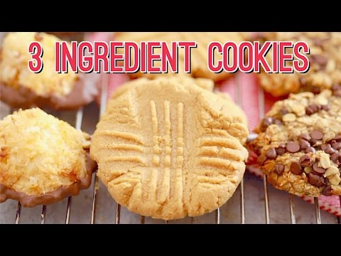 3 Ingredient Cookies: Peanut Butter Cookies Recipe & More!