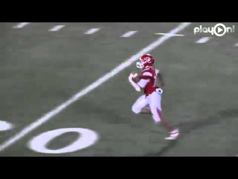 Dodge City vs. Garden City - Immanuel Galloway 80yd Intercepted Snap Pick 6