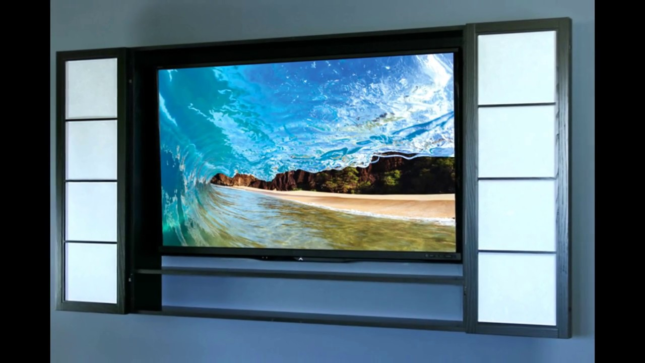 Fantastic Wall TV Cabinets For Flat Screens With Doors