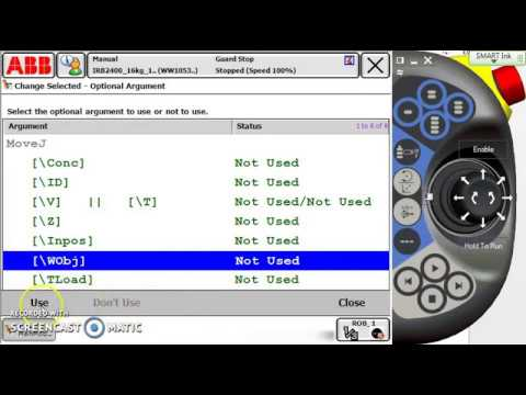 Robot Programming ABB Introducing a line of motion code IRC5 Flex Pendant Prog Basic #1