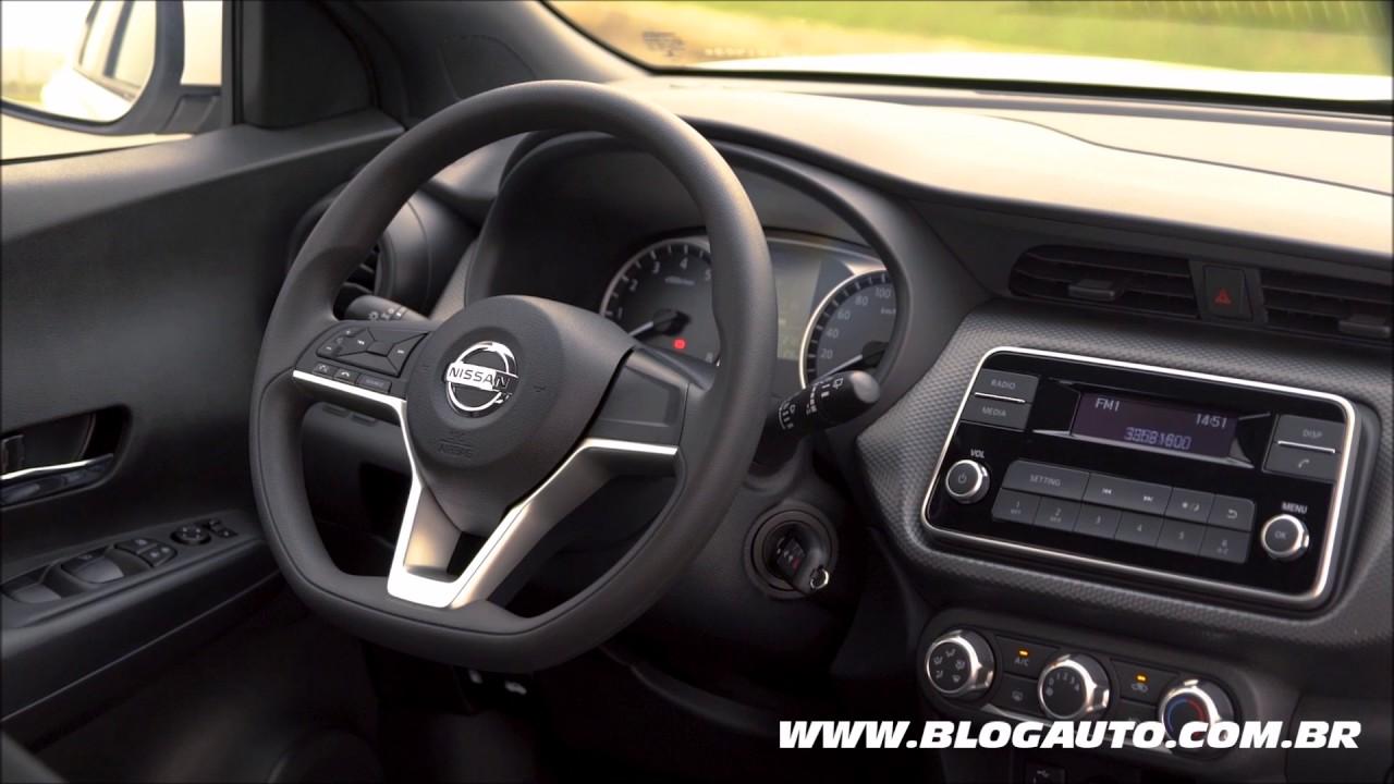 Conheça o interior da versão de entrada do Nissan Kicks S ...
