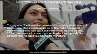 Harvey Weinstein: Secret recording of undercover sting