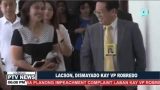 Lacson, dismayado kay VP Robredo
