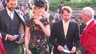 2018年10月12日英國王室尤金妮公主(Princess Eugenie)大婚,各界嘉賓抵達會場(AP,美聯社)