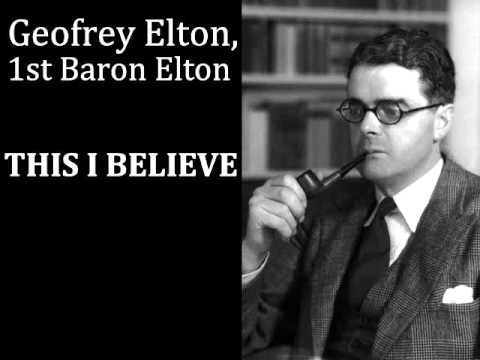 Lord Elton - This I believe - 1950s Radio broadcast