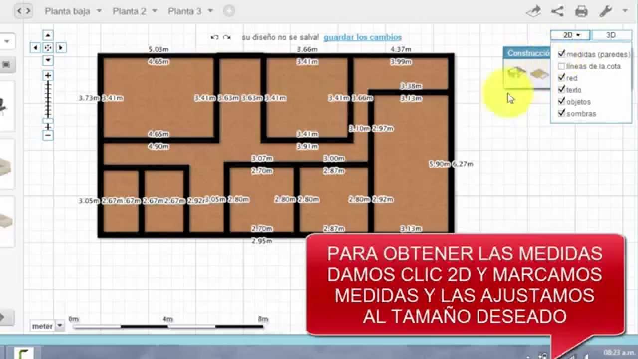 Crear planos de forma f cil y sencilla youtube for Crear planos de casas