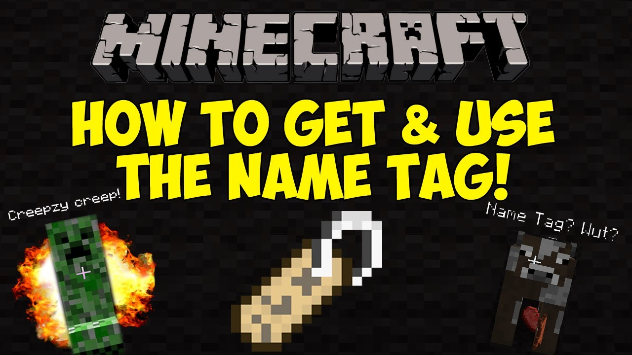 Name Tag Minecraft minecraft: how to get & use the name tag! [1.6.1] - youtube