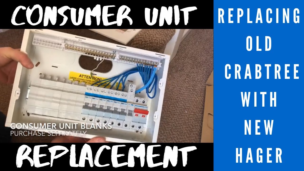 Consumer Unit Replacement- Installing a Hager RCBO consumer unit to on
